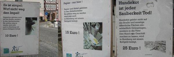 Bußgeldplakate