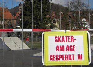 Skateranlage gesperrt