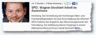 Wagner blockiert Arbeit im Ausschuss HNA-online