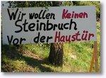 Gegen Steinbruch
