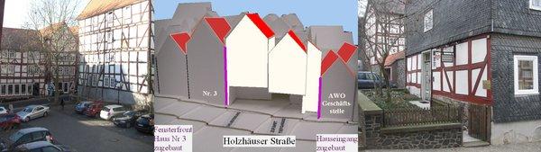 Holzhäuser Fenster zugemauert