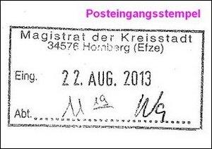 Posteingangsstempel
