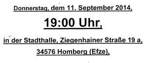 11. Sept. Stadtverordnetenversammlung