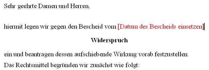 Homberger Hingucker Blog Archiv Musterbrief Für Widerspruch