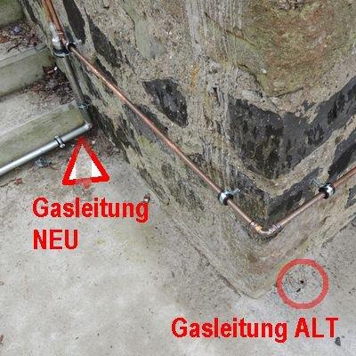 Gasleitung alt neu
