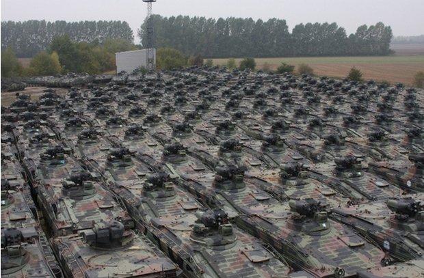 Panzergeparkt