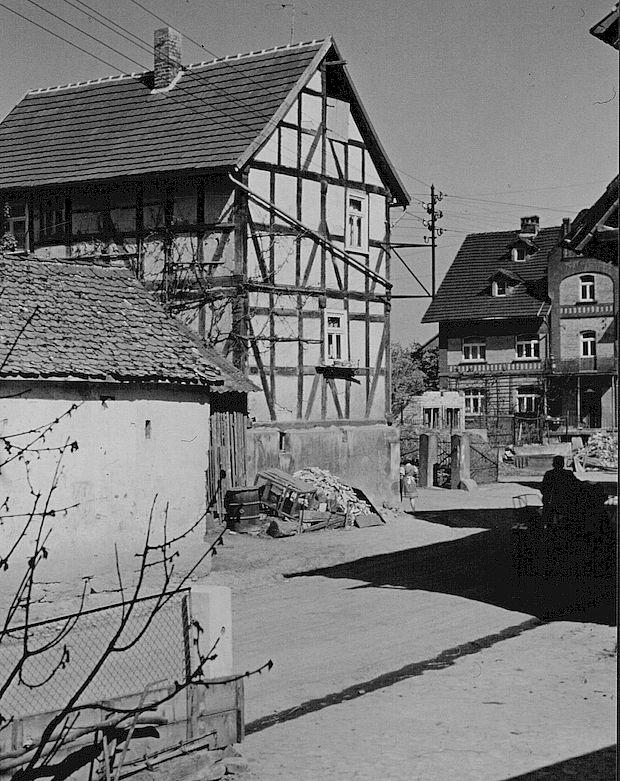 Haus an der Dorfstraße, später abgebrochen